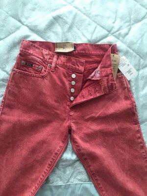 Polo Ralph Lauren Pantalon taille haute rouge-rouge brique jean