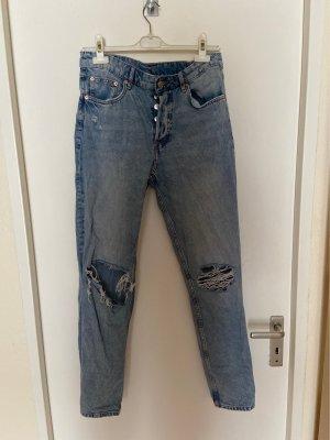 H&M Workowate jeansy Wielokolorowy