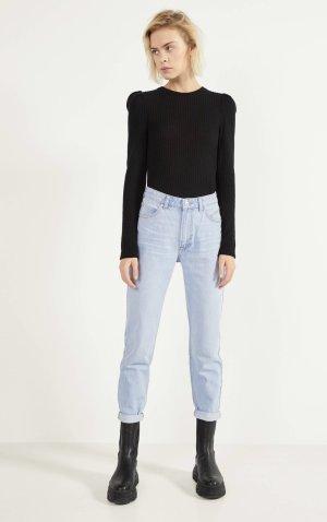 Bershka Jeans boyfriend bleu azur