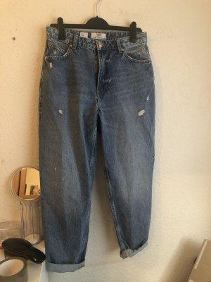 Bershka Boyfriend jeans leigrijs-blauw