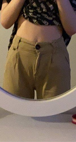 Bershka Luźne spodnie beżowy