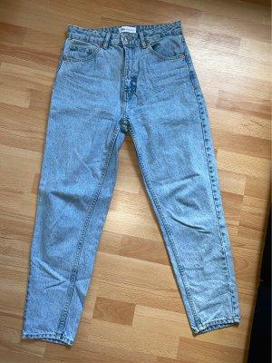 Zara Mom-Jeans szary niebieski