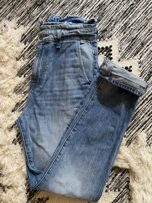 7 For All Mankind Hoge taille jeans staalblauw