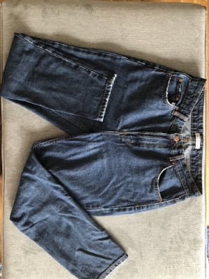 Bershka Mom-Jeans dark blue