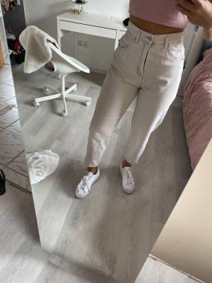 Pull & Bear Pantalon 7/8 beige clair