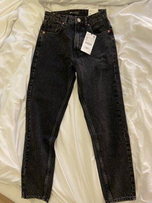 Zara Boyfriend jeans zwart-grijs