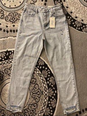 / Boyfriend Trousers light grey-azure