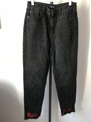 Pieces Jeans carotte noir