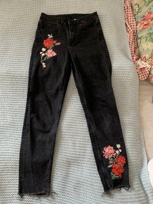 Mom jeans bestickt H&M
