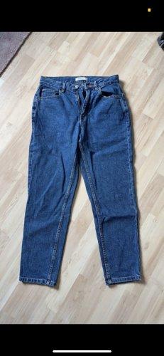 Pull & Bear Spodnie z wysokim stanem niebieski
