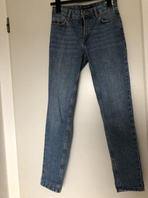 Mom-Jeans blau high-waist