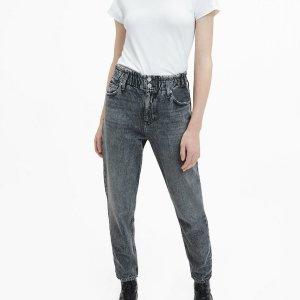 Calvin Klein Jeans Jean mom gris anthracite