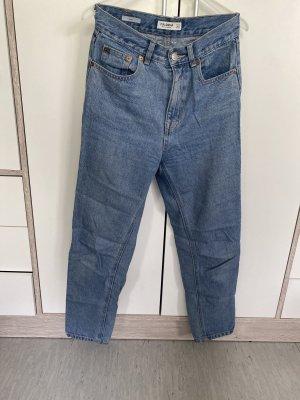 Pull & Bear Boyfriend Trousers blue