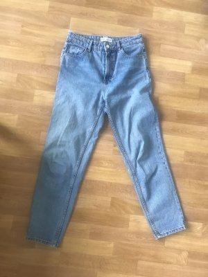 Zara Jeans a vita alta azzurro