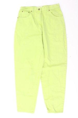 Mom Jeans Größe 40 grün aus Baumwolle