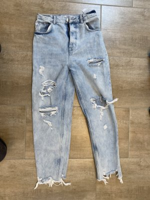Mom Jeans hellblau ripped