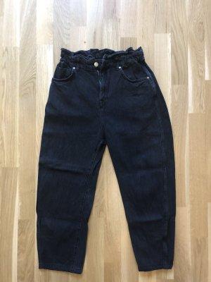 Mango High Waist Jeans black