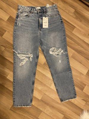 Mom Jeans mit Rissen, Zara, neu