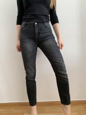 Mom jeans | schwarz