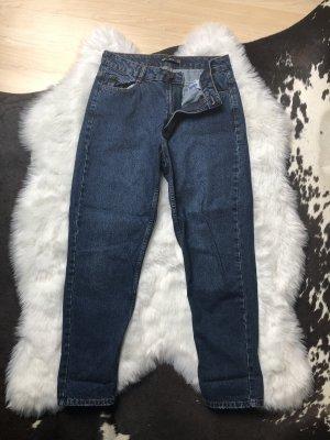 Bershka Jeansy z prostymi nogawkami niebieski