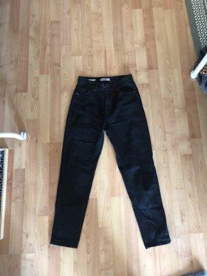 Pull & Bear Hoge taille jeans zwart