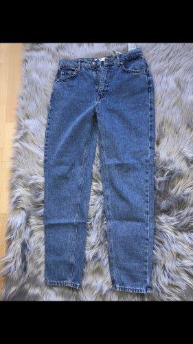 Pull & Bear Workowate jeansy niebieski