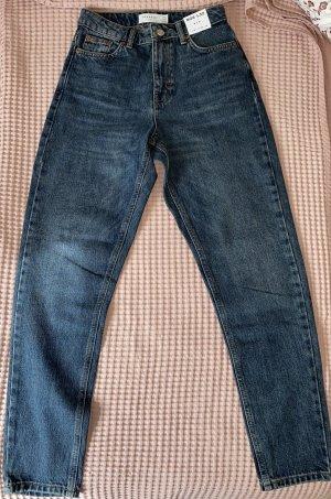 Topshop High Waist Trousers dark blue-blue