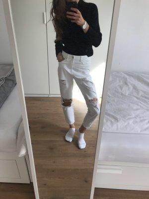 Mom Jeans weiß mit Rissen ASOS / New Look Gr. 34