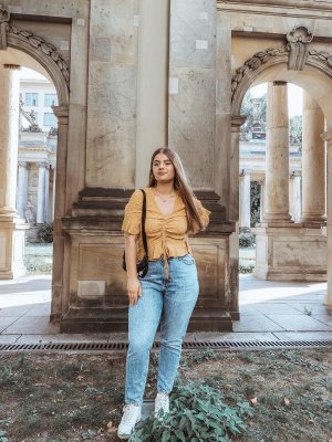 Zara Baggy jeans blauw