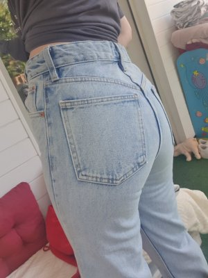 Zara High Waist Jeans multicolored