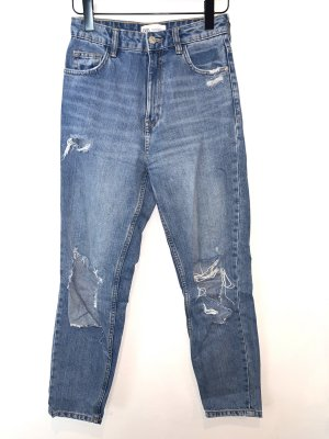 Mom Loose-fit Destoryed High Waist Jeans