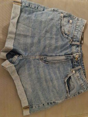 H&M Pantaloncino di jeans grigio chiaro-blu