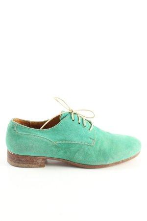 Moma Zapatos brogue turquesa look casual