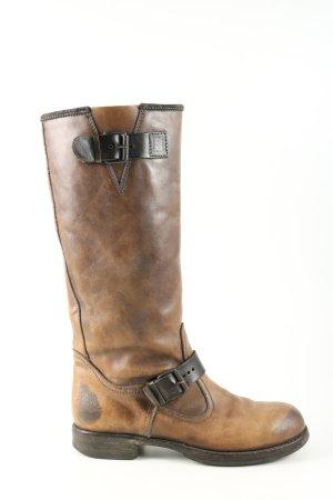 Moma Western Laarzen bruin-zwart casual uitstraling