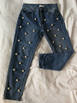 Momfit Jeans mit Perlen