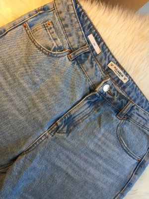 Pull & Bear Hoge taille jeans blauw Modal