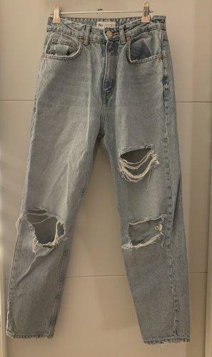 Zara Mom-Jeans błękitny
