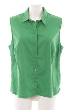 Mona ärmellose Bluse grün Casual-Look