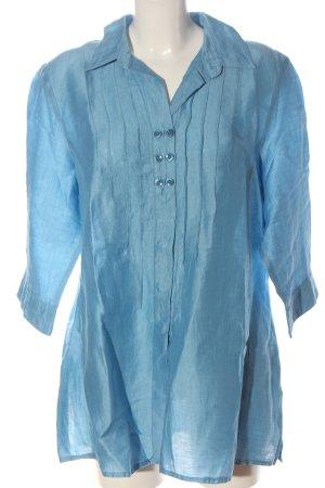 Mona Hemd-Bluse blau Business-Look