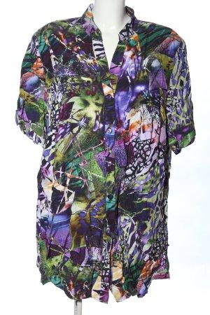 Mona Shirt met korte mouwen grafisch patroon casual uitstraling