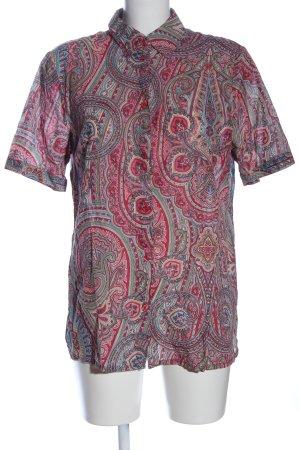 Mona Camisa de manga corta rojo-turquesa look casual