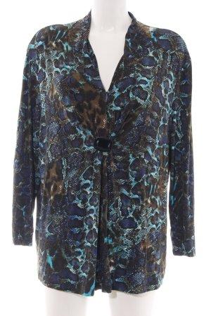 Mona Langarm-Bluse abstraktes Muster extravaganter Stil