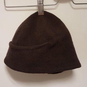 Mona Lenz Cappello in tessuto marrone scuro