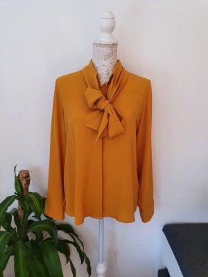 Mona Blouse avec noeuds doré-brun sable