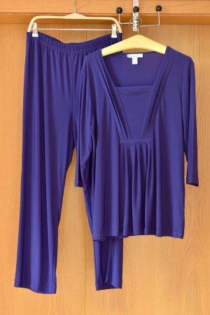 MONA Set 44/XL Lila Zweiteiler Schlupfhose weite Hose Tunika Bluse Shirt