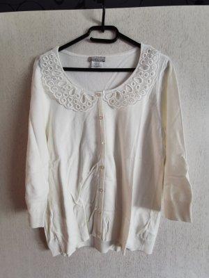 Mona Strickjacke Cardigan Gr. 44 Weiß