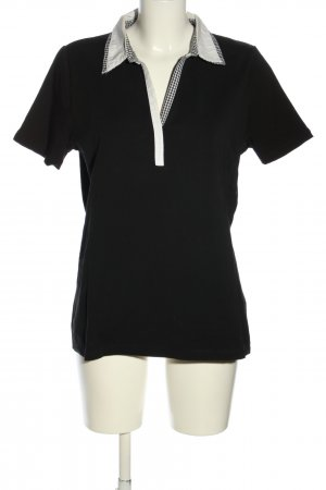 Mona T-Shirt black-white check pattern casual look