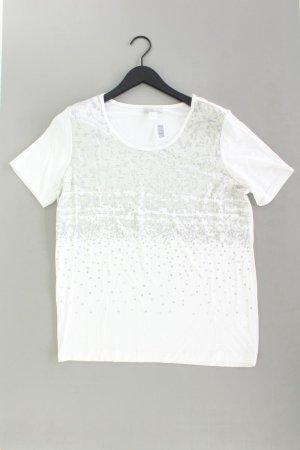 Mona T-Shirt Größe 44 Kurzarm mit Pailletten weiß