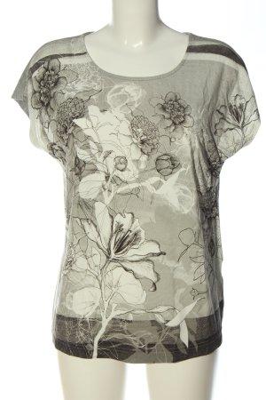 Mona Boatneck Shirt flower pattern casual look