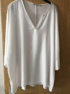 Monari Glanzende blouse wit